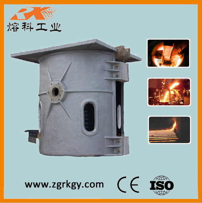 Bronze crucible induction melting furnace