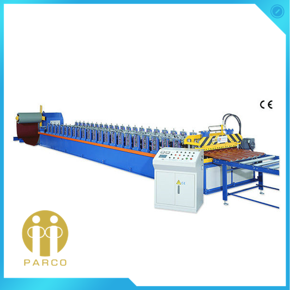 TAIWAN HIGH SPEED CONTINUOUS FAST PRODUCTION ROOF TILE COLD ROLL FORMING MACHINE