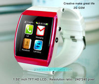 "Good quality most popular dual core 1.55"" inch TFT HD LCD 2g watch phone"
