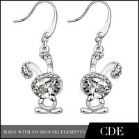 CDE 2014 wholesale initial earrings for girls