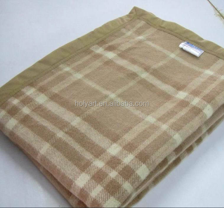hot sale high quality wholesale wool blankets plaid
