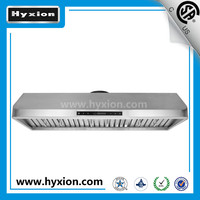 high quality range hood with Stainless steel baffle filter