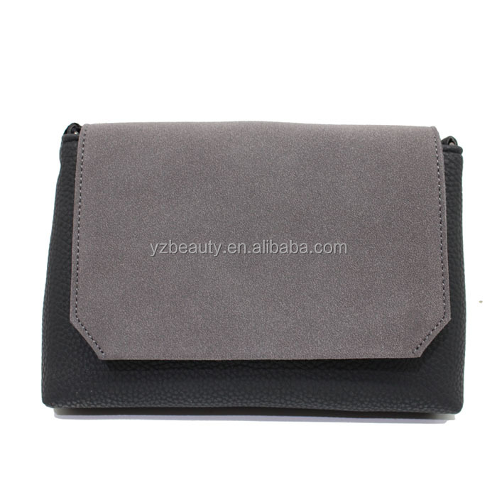 Mini pu leather flap bag for lady pu leather ladies crossbody bag