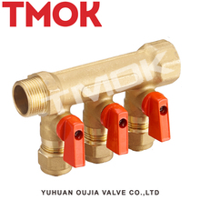 sand blasting brass three ways water manifold