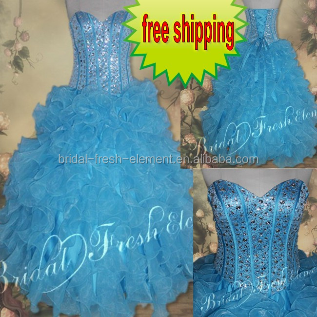 Hot Sale Long Good Quality Organza Strapless Beaded Sequin Lace Ball Gown Western Quinceanera Dresses Patterns