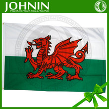 90x150cm Polyester custom waving best sale china made cheap welsh flag