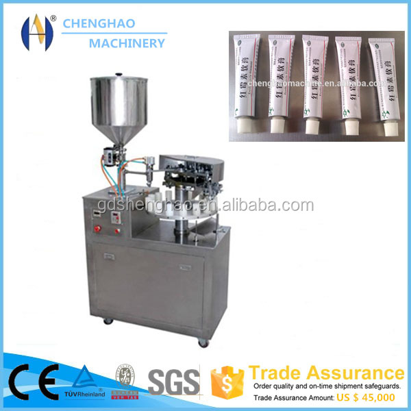 Empty Aluminum Laminated Tubes filling and tube tail sealing machine for Pharmaceutical