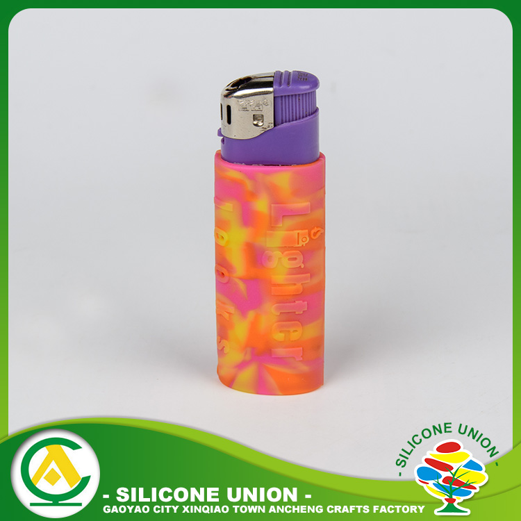 Embossed silicone box lighter cases cover
