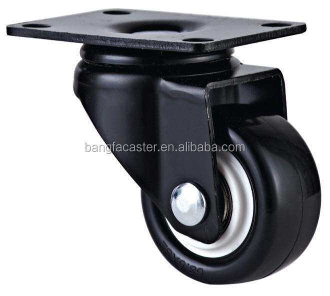 40mm Swivel Black PU Furniture Small Caster <strong>wheel</strong>