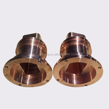 Custom cnc machining brass parts/flange bushing/sleeve
