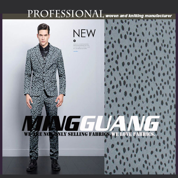 China manufacture T/R jacquard uniform fabric mens suit fabric