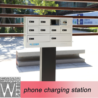 public phone charging station cell phone charging station outdoor advertising
