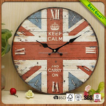 Champion antique medieval british design wall clock for cottage home decor