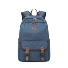 Wholesale boys backpack school bag colleage travel canvas custom book bag pack leisure