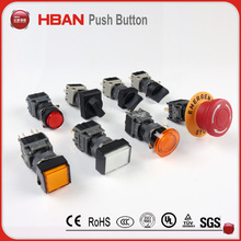 Chinese manufacturer CE TUV 12mm 16mm round reset green red elevator push button switch