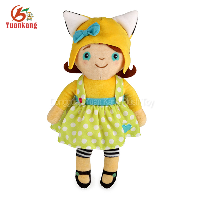 High Quality OEM Design Plush Doll Baby Beautiful Rag Doll Toys for Kids