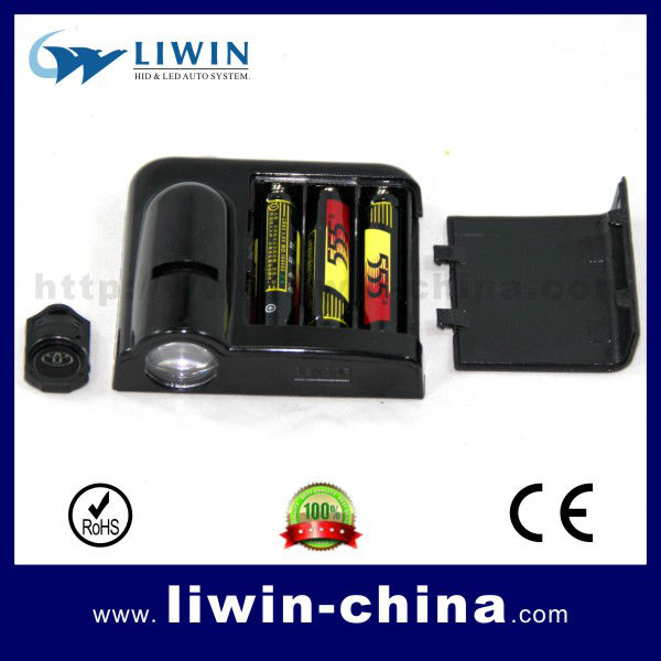 "No drill, wireless laser logo led door ghost shadow projector ligh, led car light/ wireless car door light with a ""ON/OFF""switch"