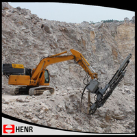 Full hydraulic 90A rock drill, hard rock drilling machinery