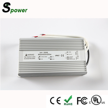 Constant voltage 24V 250W waterproof power supply for LED strips