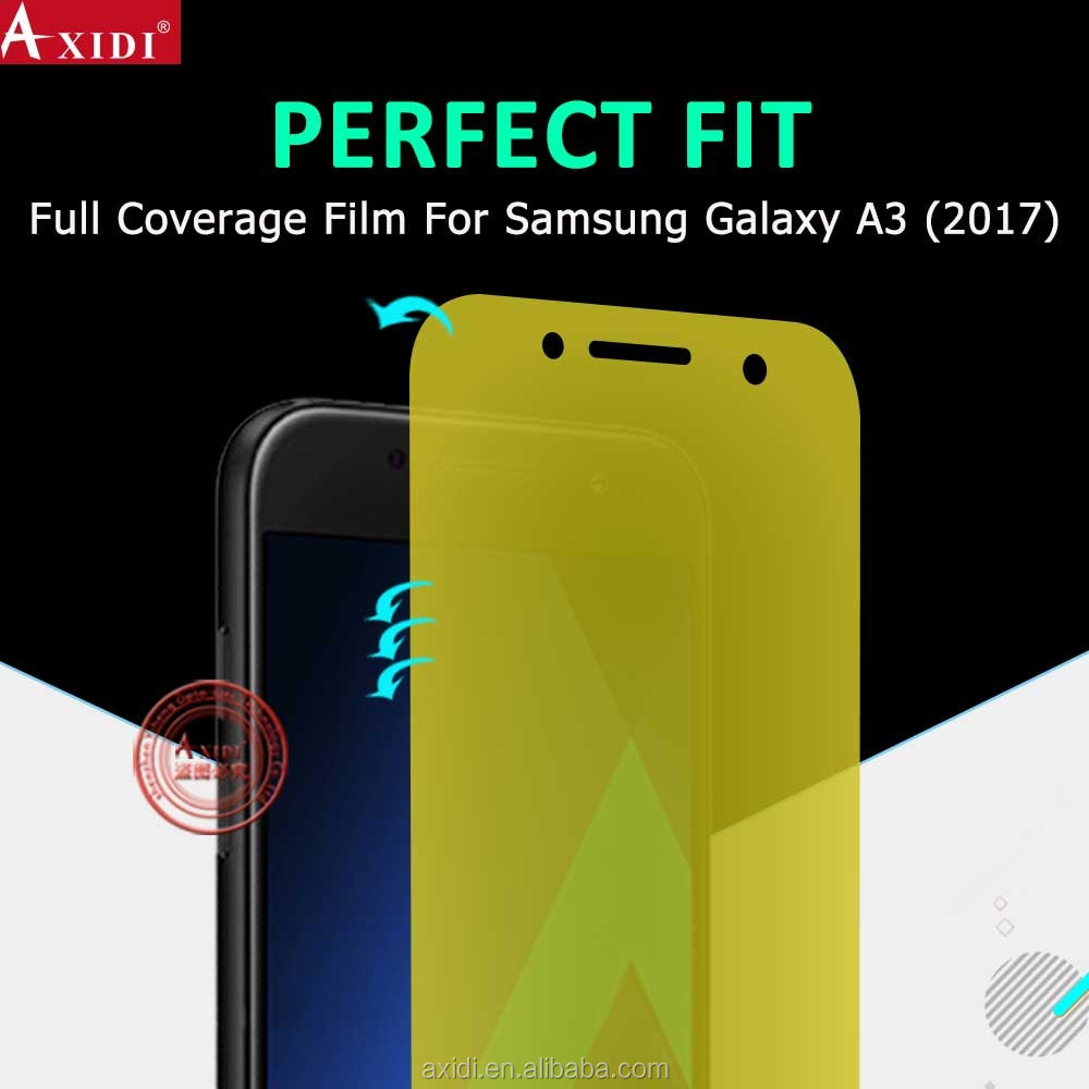Suitable for All Curved Mobile Phones!!3D Full Cover Curved TPU Screen Film for Samsung Galaxy A3 2017