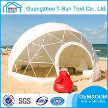 New Customized Size Shape Beach Sun Party Outdoor White Round Dome Display Tent