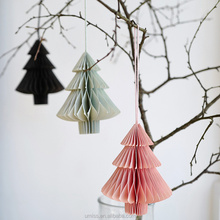 Umiss Set of Three Folding Paper Christmas Tree Swing Hanging Decoration