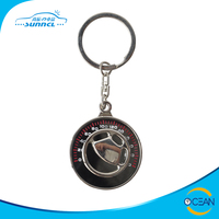 Steering Wheel Desgin Promotion Gift Key Chain Parts , Metal Key Ring