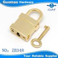 Decorative light gold zinc alloy metal clip lock with keys