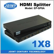 New design HDMI splitter 1 input 8 output ,Full HD 3D 24Hz Supported