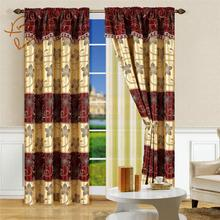 Africa style macrame curtain window and valance curtain set