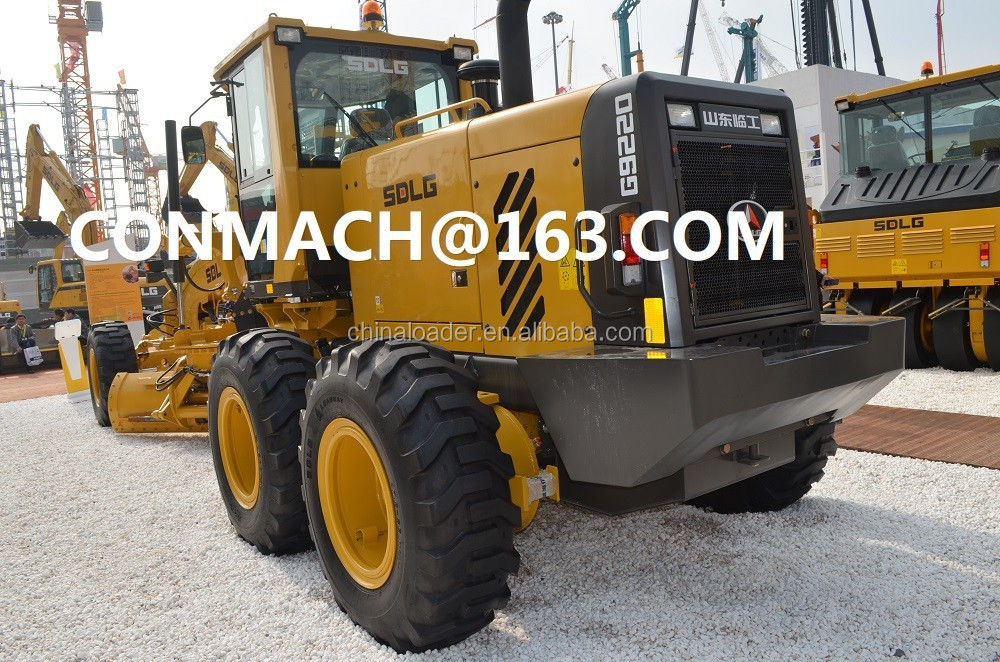 SDLG G9220 Grader with ZF Transmission ,Meritor axle ,220 hp power ,ROPS Cab