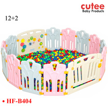 14 Panels Large Plastic Colorful Portable Foldable Safety Baby Playpen With Gate For European Standard