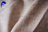100% polyester High quality newest design cheap colorful polyester linen look curtain fabric