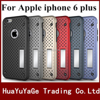 Free shipping 2 in 1 Multi-Function Hybrid Combo Mesh Stent Net Stand Case Back Cover For Apple iphone 6 plus 6S plus