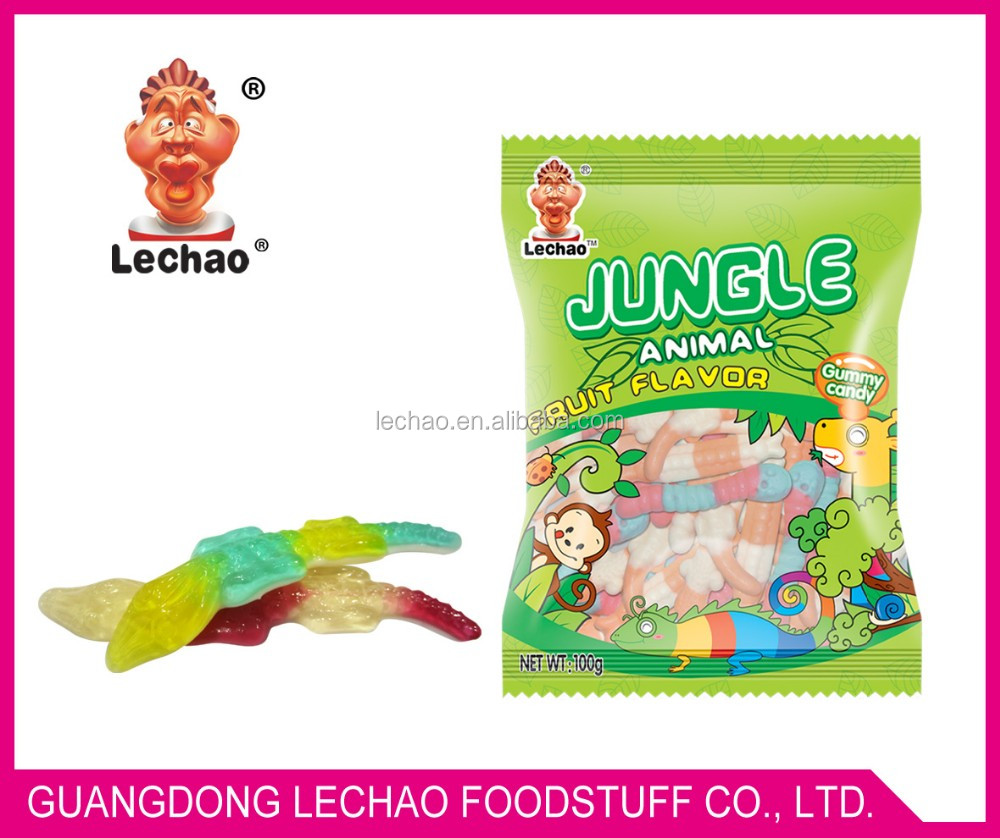 Jungle Animal Gummy Candy With Bags/halal gummy candy/jelly candy