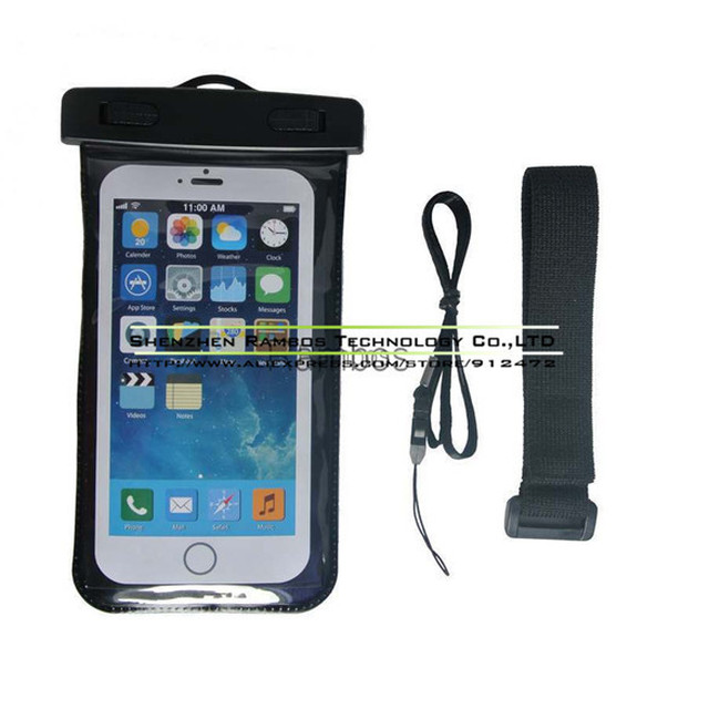 Universal Waterproof Pouch Case Bag 20M Water Resistant Cover Cases for Samsung Galaxy S4 i9500 for Sony Xperia M2 Dual