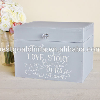 Rustic Chic Wedding Card Box Every Love Story wooden box