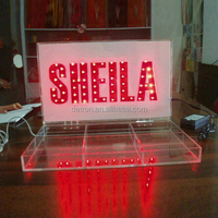 Acrylic jewelry light display case ,LED display case