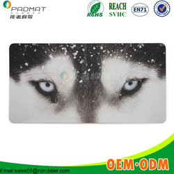 Top quality dogs face heat printing extended gaming mouse pad