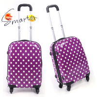 PC Purple Small Size Trolley Travel Luggage Bag