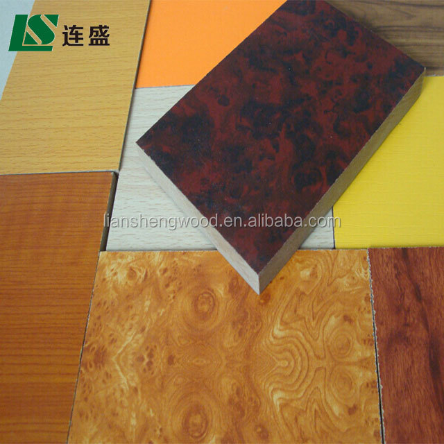 double panel melamine mdf board from Chinese supplier