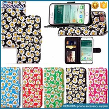 Free sample cell phone case smart phone wallet style PU leather case for iphone 7 plus