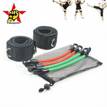 Martial arts sports strength training exercise elastic rope with straps