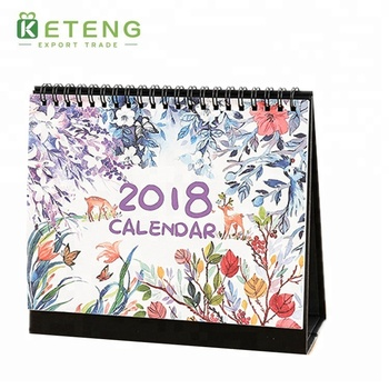 New design customized full color printing 2018 calendar