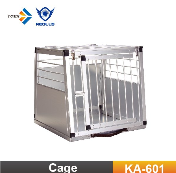 KA-601 Portable Aluminium Dog Carrier Kennel Cage Pet Transport Car Cages