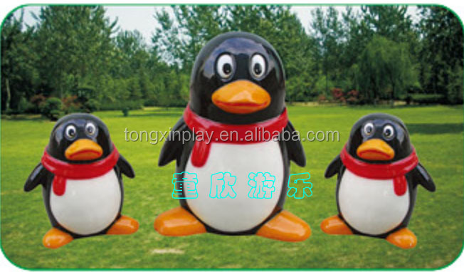 Red Bow QQ Penguin Inflatable Cartoon Figure TX-5183C