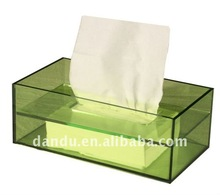 Green Acrylic rectangle tissue box