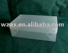 Frosted cheaper PP Shoe box with handle