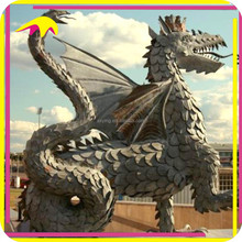 KANO4161 Outdoor Decoration Attractive Life Size Fiberglass Dragon