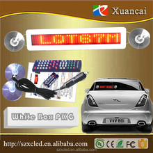 alibaba express remote control LED taxi sign /mini led sign /scrolling message led car sign board